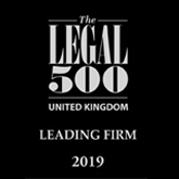 Legal 500 UK - leading firm 2019