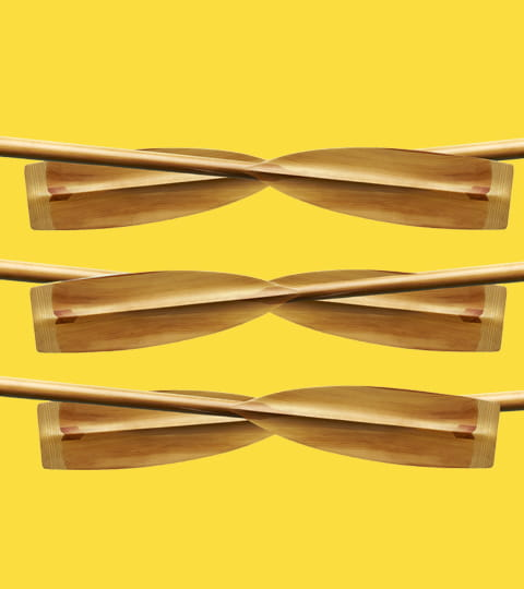 oars on yellow background
