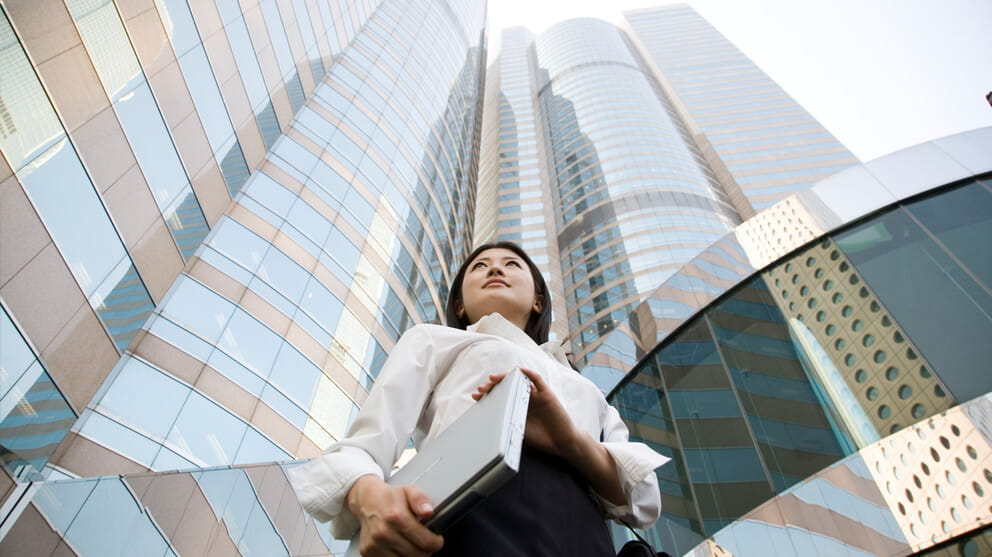 business-woman-in-front-of-office