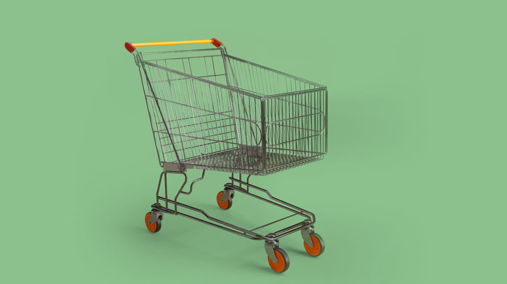 Close-Up Of Shopping Cart