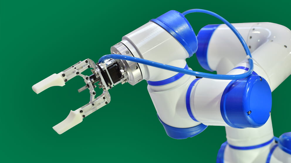Blue Robotic Arm