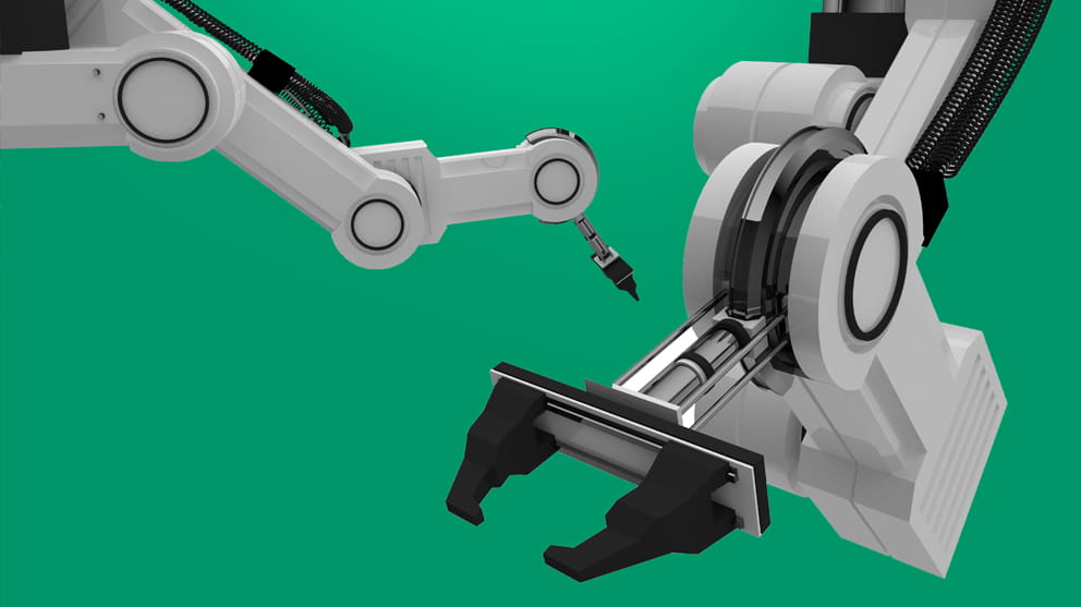 Black Robotic Arm