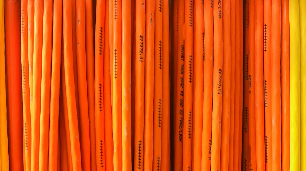 Full Frame Shot Of Orange Cable