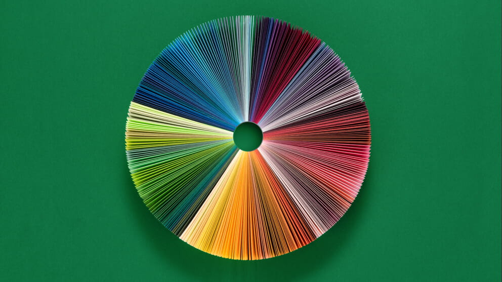 Pie Chart Consists of colorful Paper