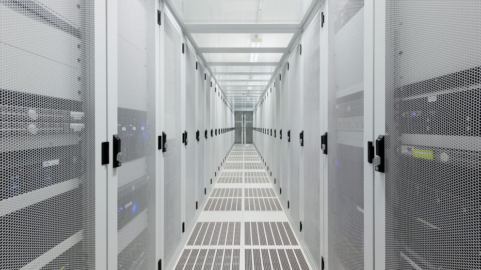 Hallway in server room