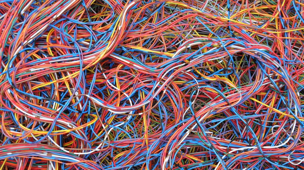 Different coloured wires