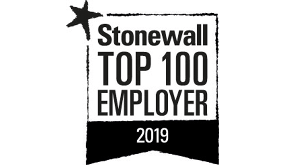 Stonewall top 100 employer 2019